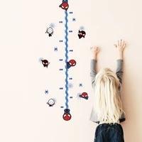 Autocollants muraux Spider-man  mesure de la taille  tableau de croissance  pour enfants  pepiniere  chambre a coucher  decoration de maison