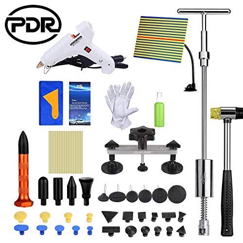 PDR Auto Pops a Dent Ding Repair Kit Extrator Paintless Remoção Removedor 51pcs Tool Hand Set