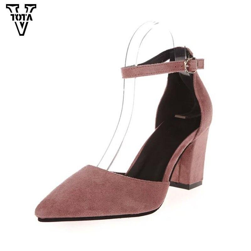 ¡NOVEDAD DE 2017! VTOTA zapatos de tacón alto para mujer, zapatos de verano para mujer, zapatos de tacón grueso, zapatos cómodos, zapatos de plataforma para mujer FC01