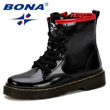 Детская обувь BONA, модные кроссовки из синтетической кожи для мальчиков и девочек, 2019