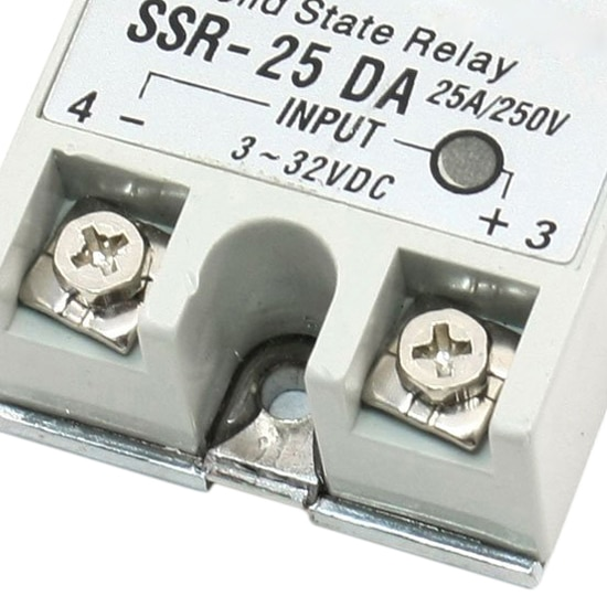 KSOL New Style Single Phase DC Control AC Solid State Relay 25A SSR-25 DA Type