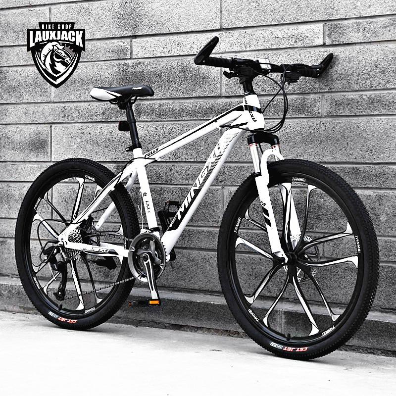 New Brand Mountain Bike Carbon Steel Frame 24/26 inch Wheel 27 Speed Dual Disc Brake Bicycle Outdoor Sports MTB Bicicleta