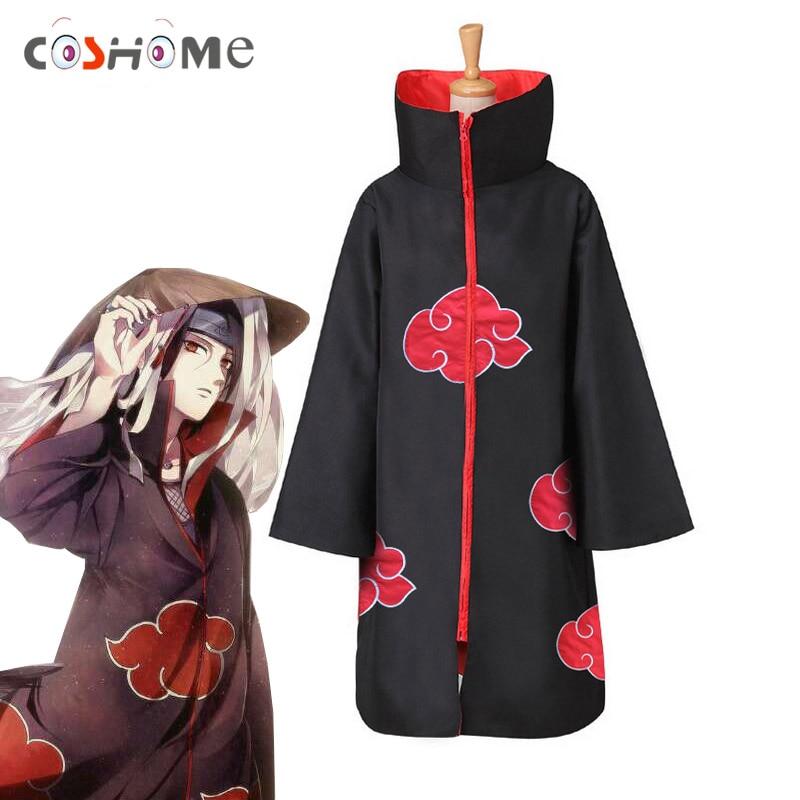 Coshome Naruto Akatsuki/плащи Uchiha Itachi Manto, маскарадные костюмы для мужчин и женщин, пальто, мантия для Хэллоуина, вечеринки