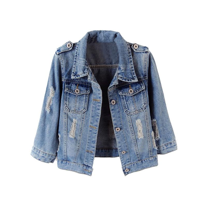 Plus Size 5XL 6XL Spring Autumn Denim Jackets Women 2019 Three Quarter Sleeve Slim Outwear Light Washed Short Jeans Jacket Coats