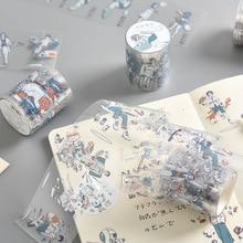 Girls and boys Transparent Washi Tape Set Japanese PET Stickers Scrapbooking Adhesive Japanese Washitape Kawaii Stationary