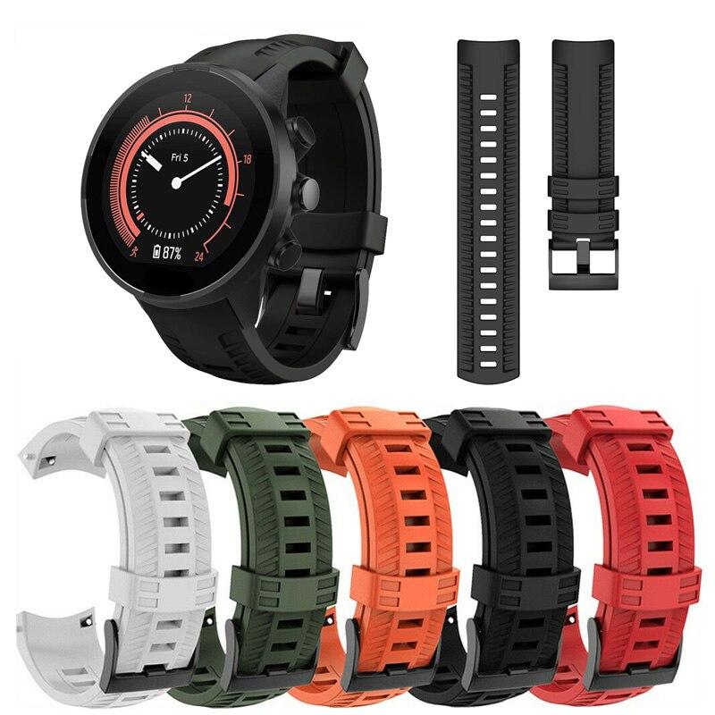 Relógio inteligente esportes silicone substituição pulseira banda cinta para suunto 9 dja99