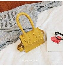 Nouvelle poignée Simple sac à main à bandoulière design doux givré carré femmes sacs à bandoulière femme bandoulière amovible enfant mini