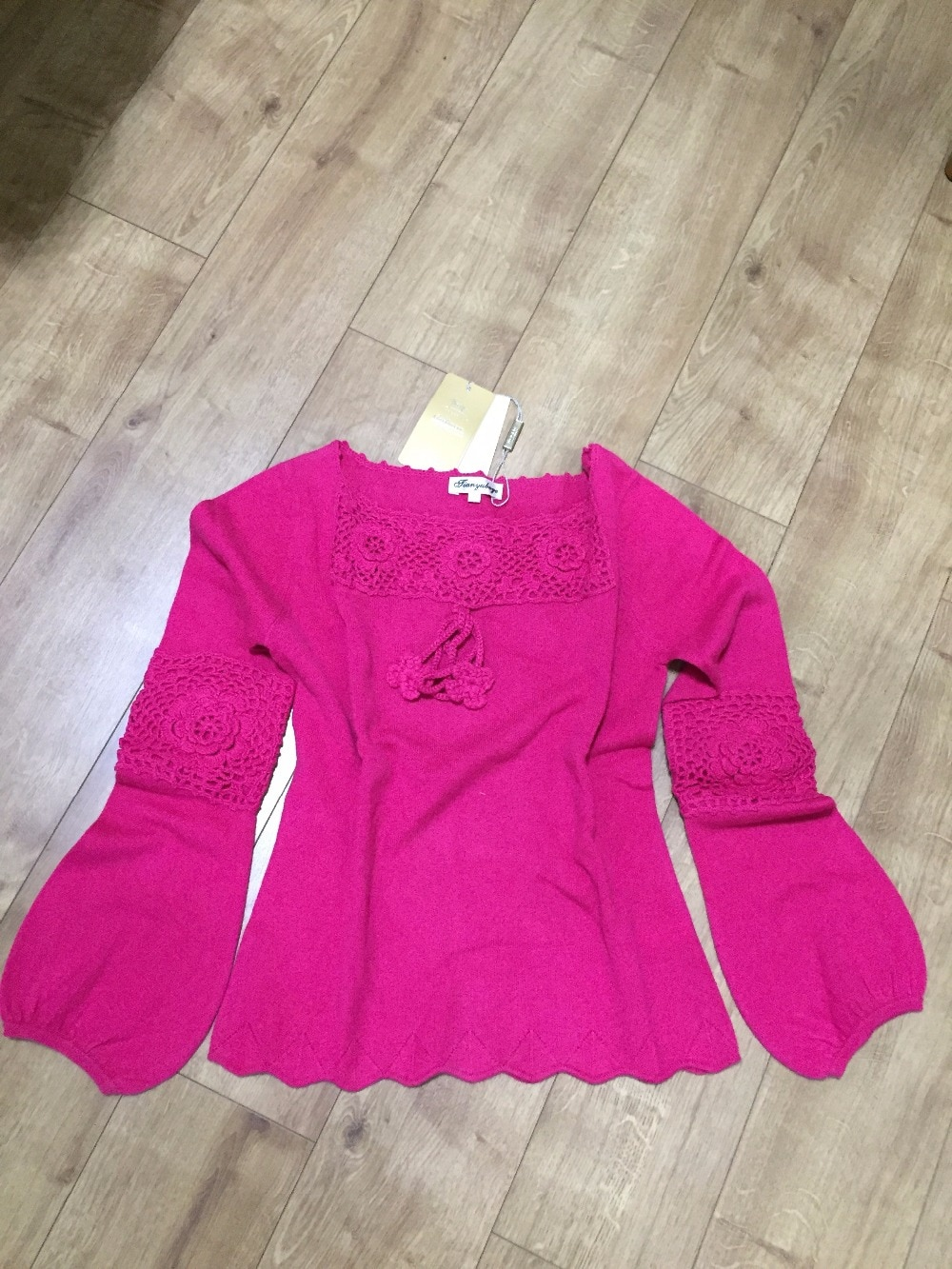 100%Cashmere Sweater Women Sweet Girl Purple Rose Red Sweaters Rose Red Natural Warm High Quality Clearance Sale Free Shipping enlarge