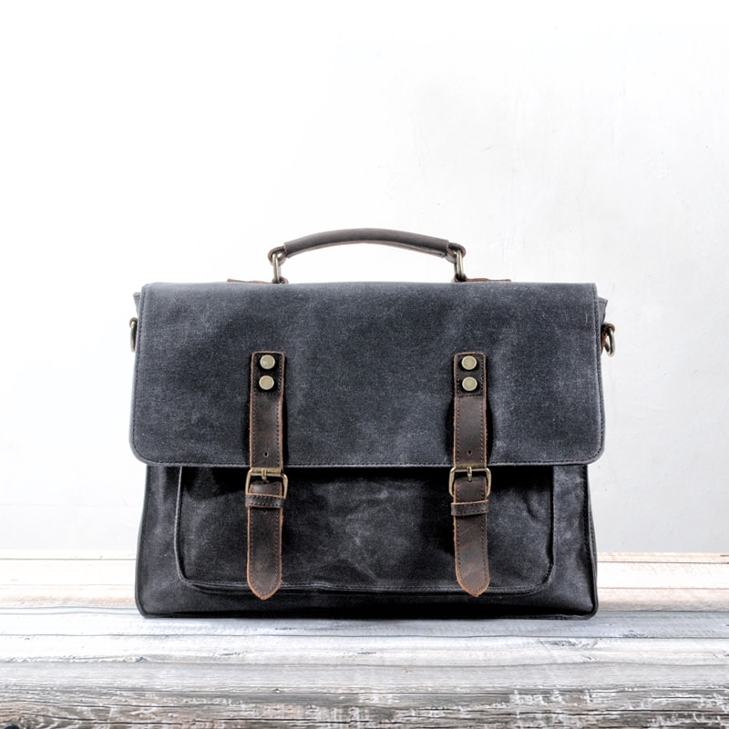 Bolso de trabajo Retro MUCHUAN, bolso cruzado artístico de lona para hombre, bolso de hombro fresco para la universidad