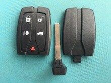 1 adet yeni yedek anahtar boş LAND ROVER FREELANDER 2 için 5 düğme uzaktan akıllı anahtar FOB durumda kabuk kesilmemiş bıçak hiçbir LOGO