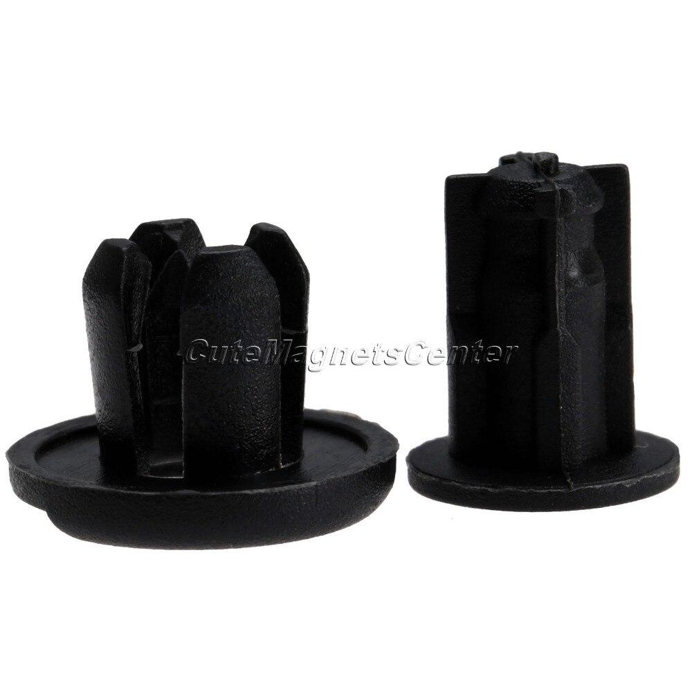 50 pçs 9.5mm buraco preto rebites fender auto pára-choques prendedores clipes do carro para toyota fender porta lnner tipo empurrar óculos de estilo do carro