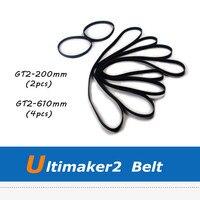 Ultimaker 2 3D Printer Parts 6pcs GT2 Synchronous Belt with 200mm 610mm Length
