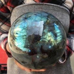 Grande tamanho natural labradorite quartzo esfera rocha bola de cristal cura pedras naturais e minerais