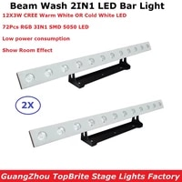 2xlot factory price bar lights 12x3w warm white or cold white optional led bar wall wash light dmx512 indoor dj party equipment