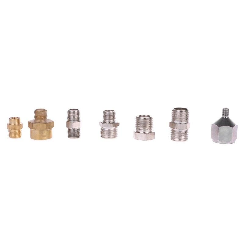 Adaptador de airbrush 7 pçs/set, kit de conexão e conector para compressor e mangueira de pistola de pulverização