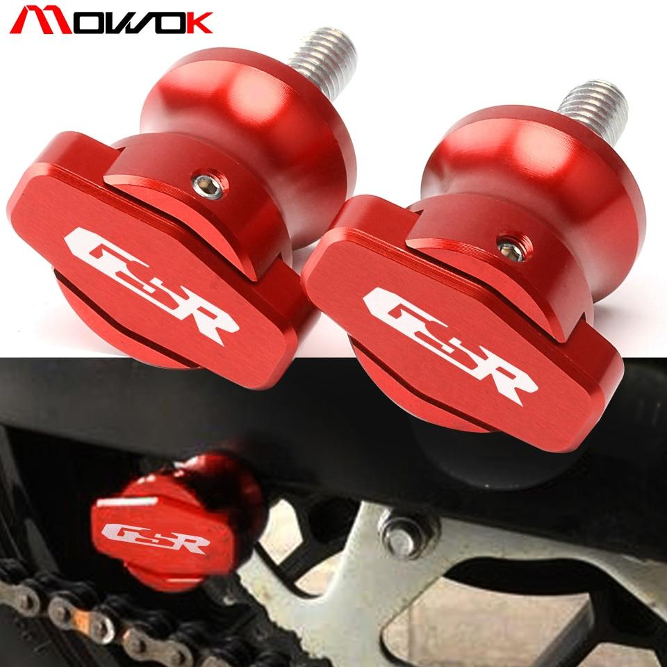 Bobines à bras oscillants en aluminium   8mm, bobines à curseurs, pour Suzuki GSR 600 2006 2007 2008 2009 2010 GSR 750 2011 2012 2013 2014