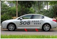Stainless Steel Body door Side Molding trim Chrome for Peugeot 508 2011 2012 13