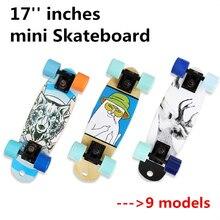 17 дюймов мини скейтборд с 60 мм PU колеса 3,25