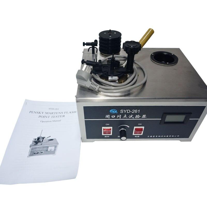 SYD-261 Pensky مارتنز مغلق كوب جهاز اختبار درجة الاشتعال فلاش نقطة الشحن السريع