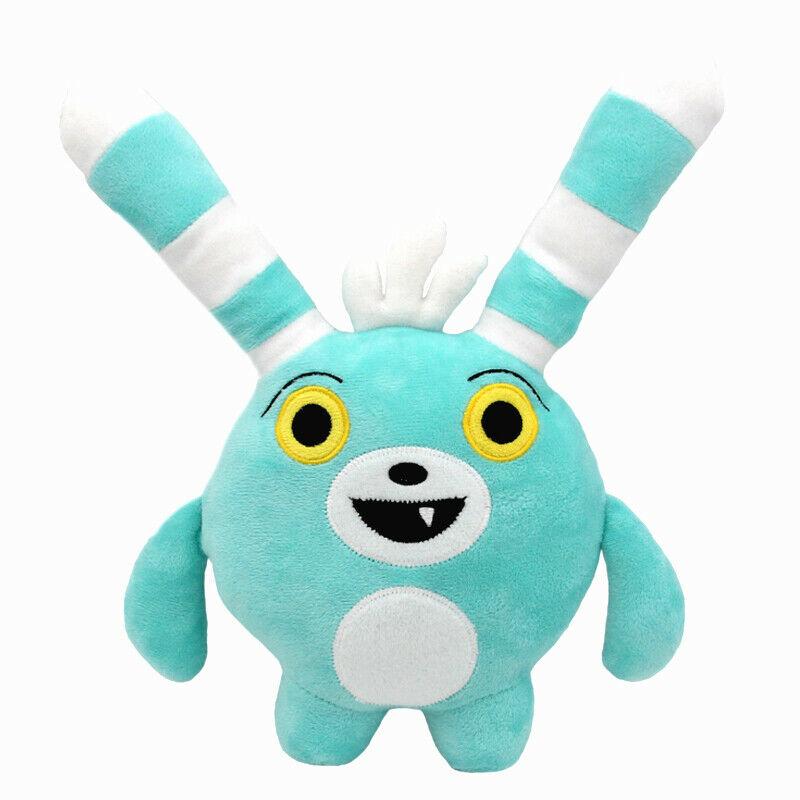 30cm Anime Abby Hatcher Bozzly Bunny Plush Figure Toy Cute Blue Rabbit Stuffed Doll