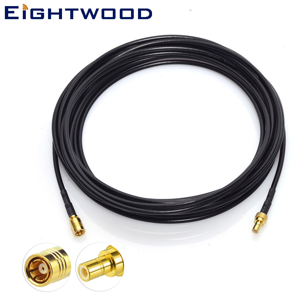 Eightwood/camión/RV Radio por satélite antena SMB extensión de macho a hembra receptor de Cable de conexión para DAB Sirius XM BR-camionero
