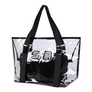 Women Transparent Handbag PVC Jelly Candy Composite Bags Female Colorful Shoulder Bag Designer Tote Beach Bags Bolsa SS0331