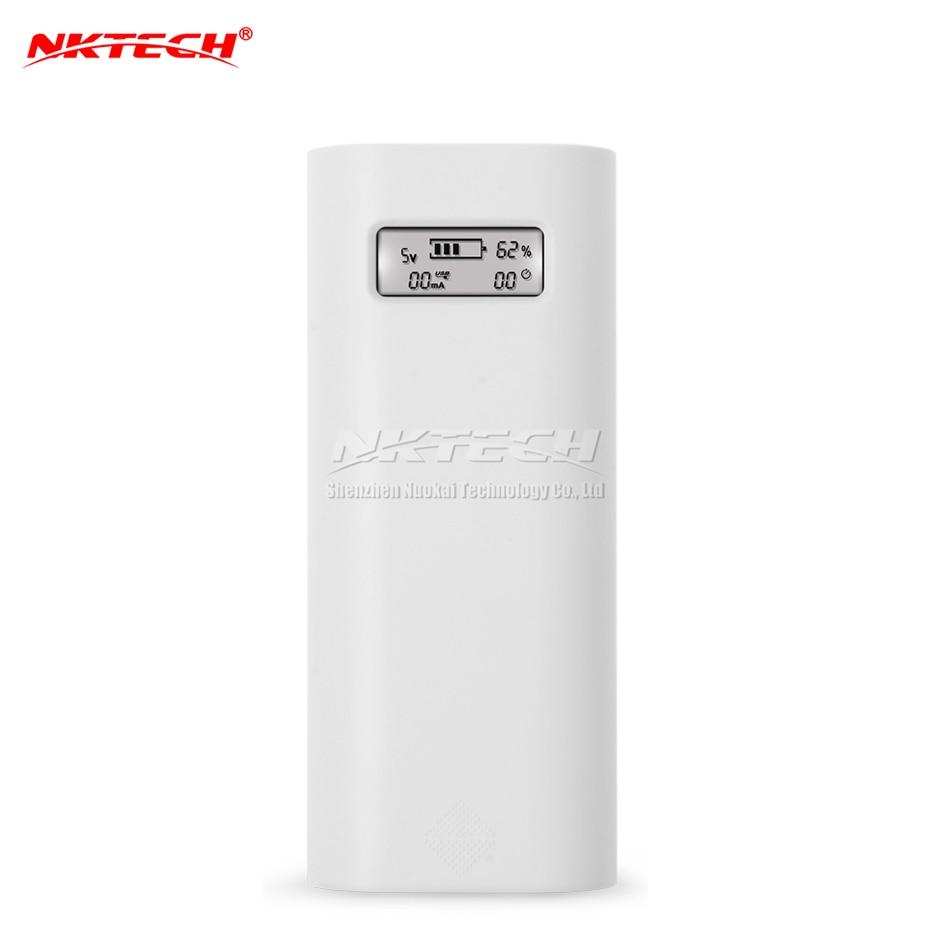 Внешний внешний аккумулятор NKTECH E4S 18650, USB ЖК-зарядное устройство, коробка 1А/2,1 а для Mate 20 P20 Pro iPad Air iPhone X Android, сотовый MP3