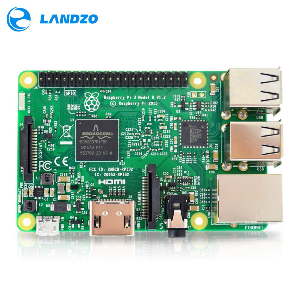 Плата для Raspberry PI 3 Model B 1 Гб LPDDR2 BCM2837, четырехъядерный процессор Ras PI3 B, PI 3B, PI 3 B с Wi-Fi и Bluetooth