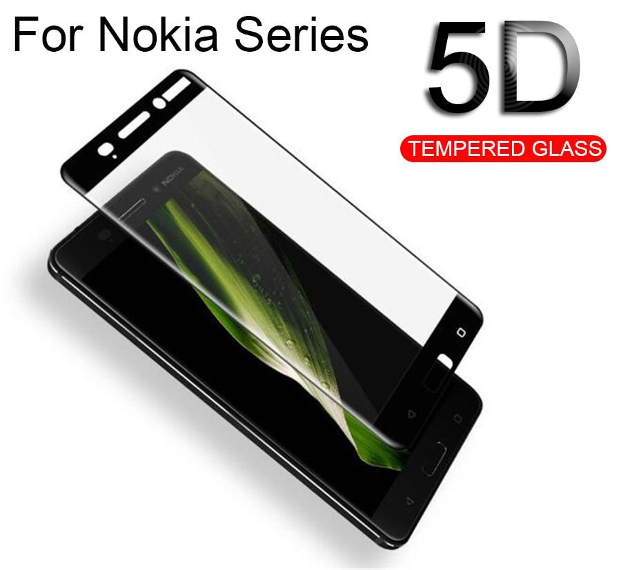 5D vidrio templado para Nokia 3 Protector de pantalla para Nokia 5,1 6,1 7 8, 2, 3, 5 6 2,1 3,1 película protectora Nokia8 Nokia3 Nokia2