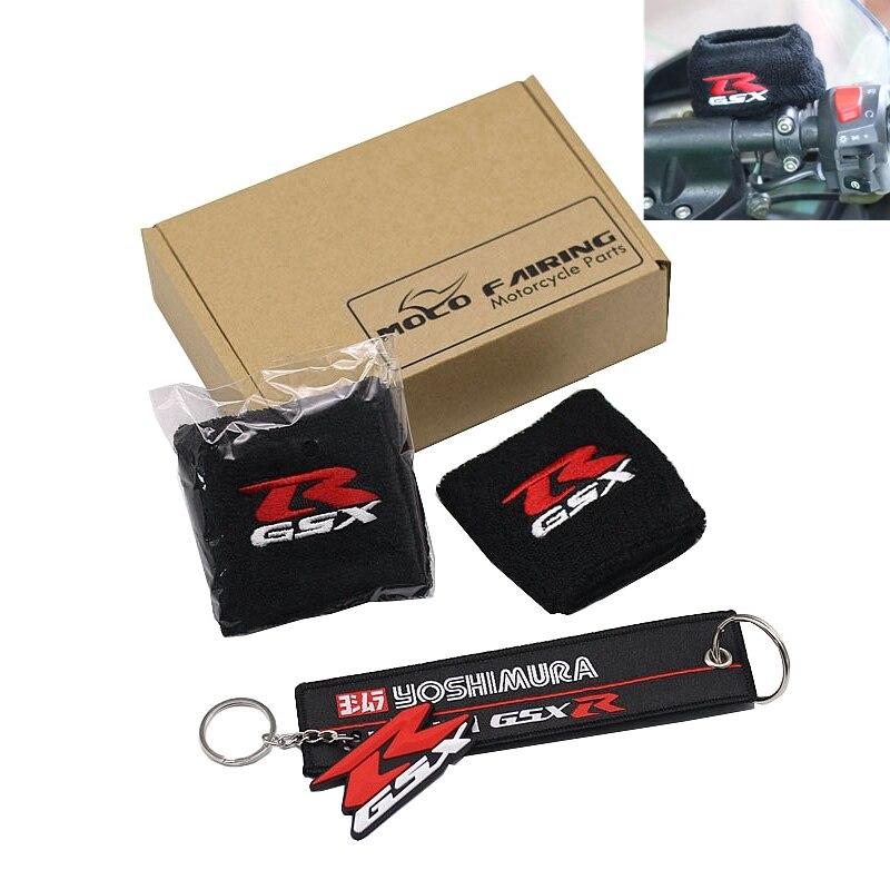 3 вида цветов Бесплатный брелок подарок тормозной резервуар носок GSXR масляный бак крышка рукава для Suzuki SV1000 GSF1200 DL1000 GSX1400 SV650