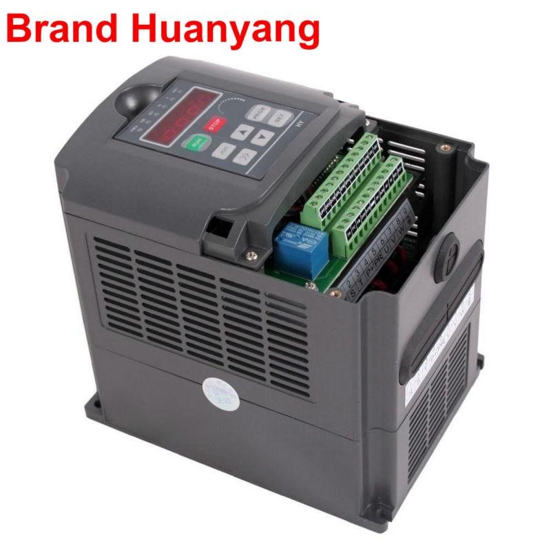 HUANYANG Brand 3kw 220v Variable Frequency Drive Inverter AC inverter CNC motor speed controller vfd