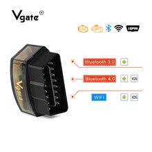 Vgate OBD2 ELM327 icar Pro Diagnostic Tool elm327 V2.1 car diagnostic Wifi/Bluetooth obd2 scanner support J1850 protocol