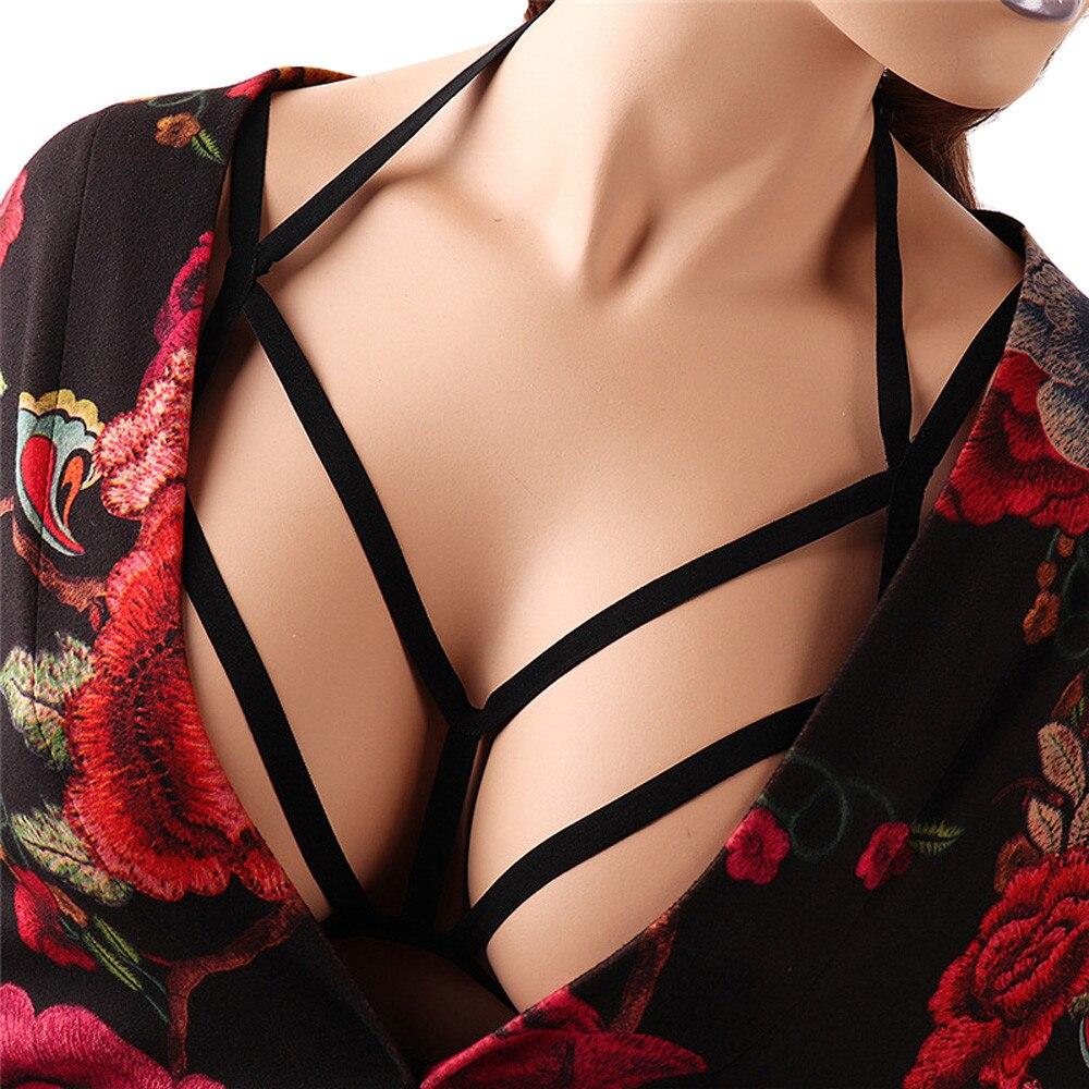 JAYCOSIN Lingerie Sexy Mulheres Escavar Elástico Gaiola Bra Lady Bandage Com Tiras Halter Top Sutiã Bustier Bralette Roupa Interior D30 Apr6
