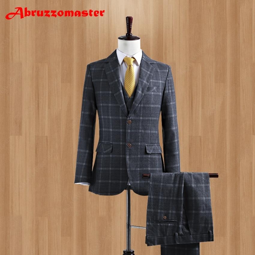 أحدث معطف بانت تصاميم العريس سهرة تويد مخصص رمادي الصوف الرجال دعوى صالح سليم الدعاوى للرجال السترة (سترة + بانت + سترة)