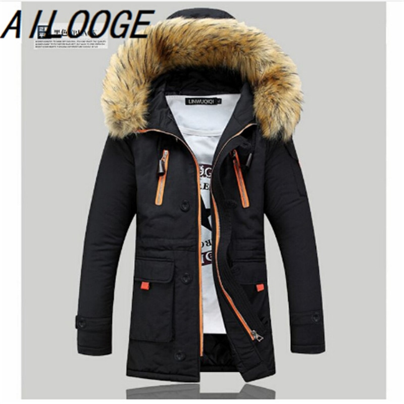 Free shipping 2016 fashion men's down jacket to keep warm in the winter long men down coat jacket