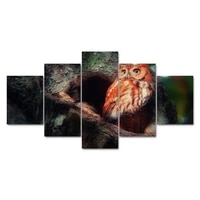 decoration living room modern paintings artwork 5 panels animal bird canvas art prints poster wall modular picture home tableau