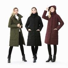 Hiver canard doudoune femmes caché à capuche poche 80% blanc canard vers le bas manteau pour leurope et la russie long design chaud parkas W1701