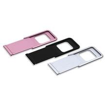 Couverture de Webcam en métal couverture de lentille de téléphone Protection de la vie privée obturateur pour Smartphone caméra pour ordinateur portable protecteur lentille bouclier autocollants