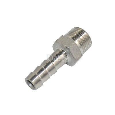 "MEGAIRON BSPT 1/4 ""DN8 conector de Tubo macho * 6mm lengüeta cola de la manguera de acero inoxidable SS304 hilo Hosetail"