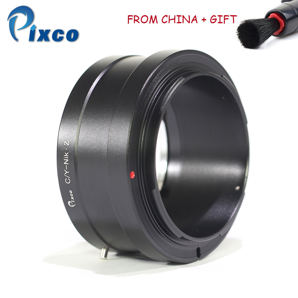 Pixco C/Y-NEX Z adaptador de lente compatible para Contax lente traje para Nikon Z Cámara anillo adaptador para Nikon Z6... Z7 + con pluma de limpieza