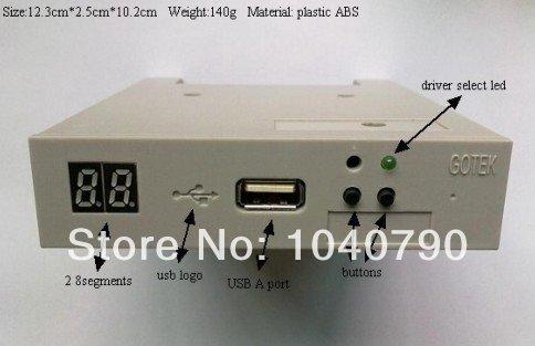 "Free shipping 3.5"" SFR1M44-FU USB SSD Floppy Drive GOTEK Emulator for Embroidery Machine"