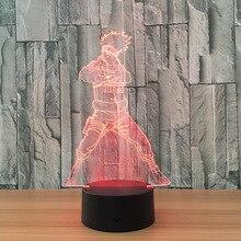 3D Neuheit Licht Dragon Ball Goku 7 Farben Ändern LED Lampe NEUE Luminaria 3D Lichter Action-figur Kinder Geschenk Spielzeug schlafzimmer Decor