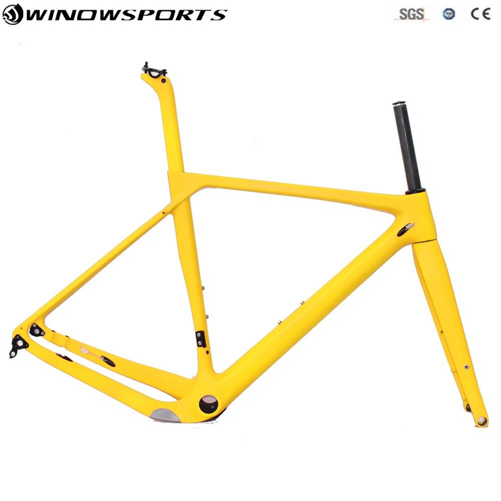 Grava marco para bicicleta de carretera bicicleta 142*12 BB86 UD cuadro de bicicleta de carbono de ciclocross disco bicicleta de Marcos