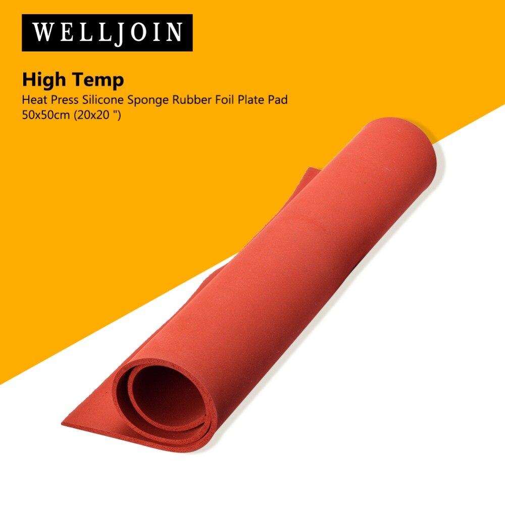 "Almohadilla de lámina de goma de silicona de prensa de calor 50*50cm (20*20 "") de alta temperatura"