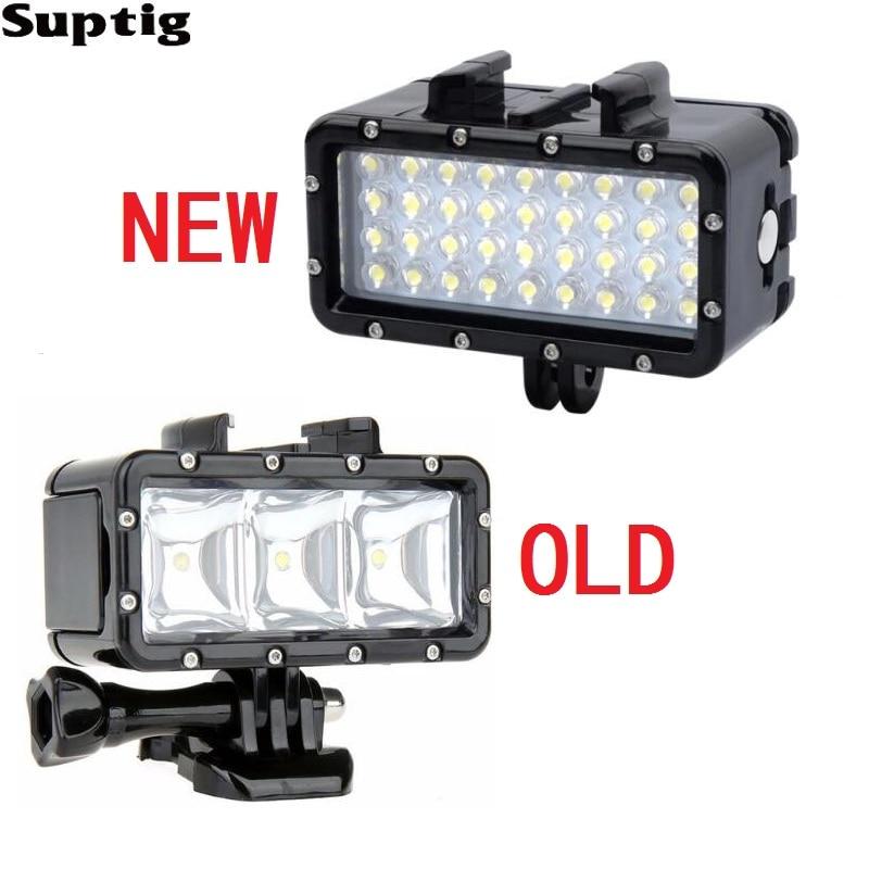 Waterproof LED Underwater Light Diving Lamp +Battery For GoPro Hero 9 8 7 5 Session4 Xiaomi Yi Mijia 4K SJCAM SJ89 EKEN H9 Power