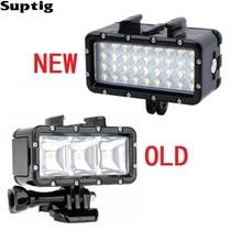 Suptig lumière LED waterproof lumière sous-marine plongée + batterie pour GoPro Hero8 7 6 5 3 Session Xiaomi Yi Mijia 4K sjcam SJ8 EKEN H9