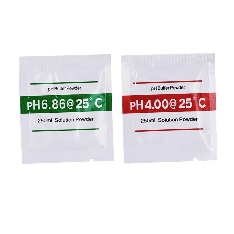20pcs PH Buffer Polvere per Meter Test PH Misura Soluzione di Calibrazione 4.00 6.86pH 15% di sconto