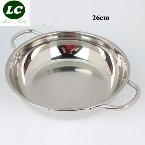FREE SHIPPING UTENSIL cooking pot CASSEROLE inox hot pot soup stainless steel fondue soup pot