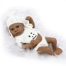 bebe reborn indian american real touch vinyl silicone toys for children on birthday brinquedo menina reborn mini baby