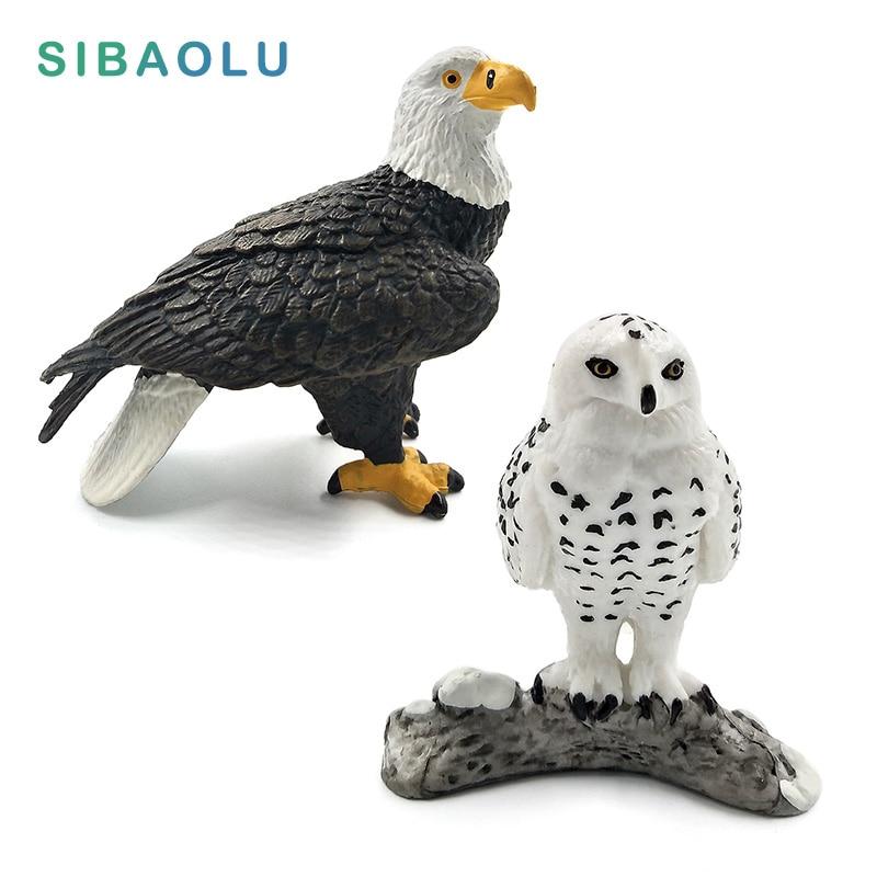 Simulation weißkopfseeadler Snowy Owl vogel figurine Tier Modell wohnkultur miniatur fee garten dekoration zubehör moderne handwerk